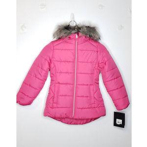 RM MRosemont Faux Fur Hood Insulated Puffer Jacket